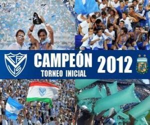 Vélez Sarsfield, Meister der Torneo Inicial 2012, Argentinien puzzle
