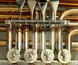 Ventile von einer tuba puzzle