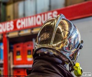 Verchromte Feuerwehrmann Helm puzzle