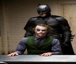 Vernehmung der Joker Batman und seinen Feind, den Joker puzzle