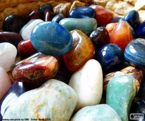 Verschiedene Mineralien puzzle