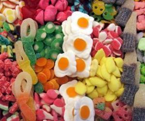 Verschiedene Süßwaren puzzle