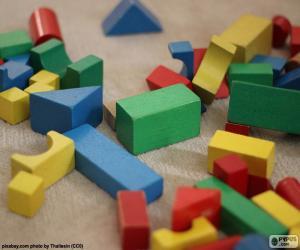 Verschiedensten geometrischen Formen puzzle