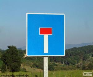 Vertikale Zeichen keine durch Straße puzzle