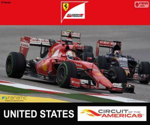 Vettel, Großer Preis der USA 2015 puzzle