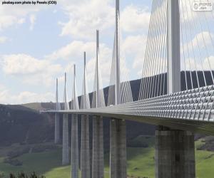 Viadukt von Millau, Frankreich puzzle