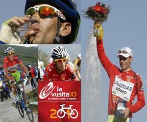 Vicenzo Nibali (Liquigas) Champion der Tour von Spanien 2010 puzzle