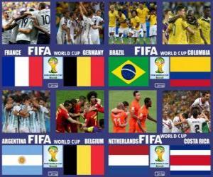Viertelfinale Brasilien 2014 puzzle