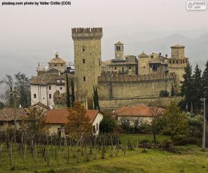 Vigoleno Burg, Italien puzzle