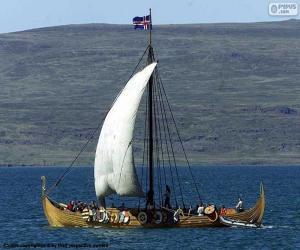Viking-Segelschiff puzzle