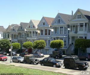 Viktorianischen Häusern, San Francisco puzzle
