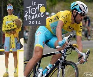 Vincenzo Nibali, Sieger der Tour de France 2014 puzzle