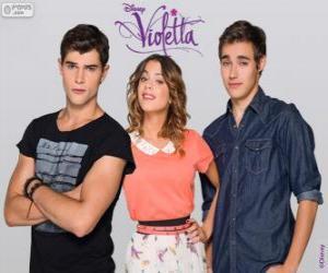 Violetta mit Diego und Tomas puzzle