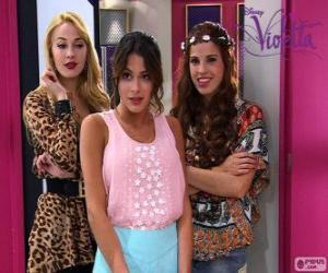 Violetta mit Ludmila und Camila puzzle
