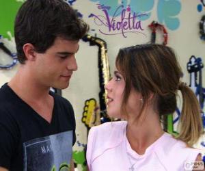 Violetta und Diego puzzle