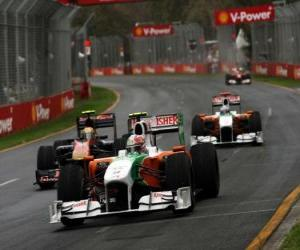 Vitantonio Liuzzi - Force India - Melbourne 2010 puzzle