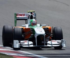 Vitantonio Liuzzi - Force India - Shanghai 2010 puzzle