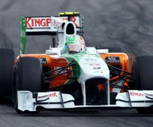 Vitantonio Liuzzi - Force India - Hockenheim 2010 puzzle