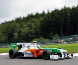 Vitantonio Liuzzi - Force India - Spa-Francorchamps 2010 puzzle