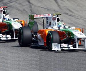 Vitantonio Liuzzi und Adrian Sutil - Force India - Monza 2010 puzzle
