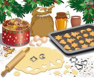 Vorbereitung Weihnachten Gebäck puzzle