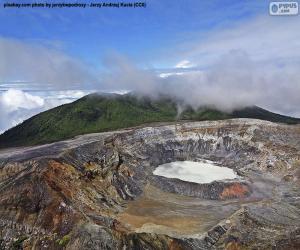 Vulkan Poás, Costa Rica puzzle