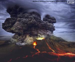 Vulkanausbruch puzzle
