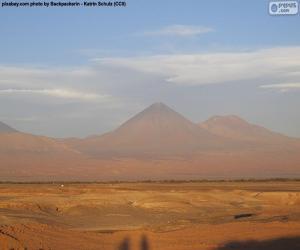 Vulkane in Atacama, Chile puzzle