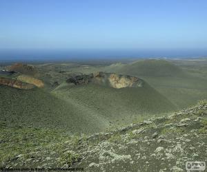 Vulkanlandschaft, Lanzarote puzzle