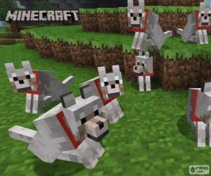 Wölfe in Minecraft puzzle