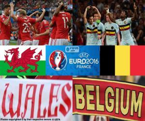 Wales-BE, im Viertelfinale EM 2016 puzzle