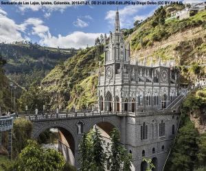 Wallfahrtskirche Unserer Lieben Frau von Las Lajas, Kolumbien puzzle
