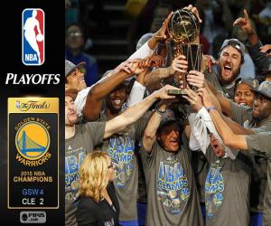 Warriors, 2015 NBA Meister puzzle