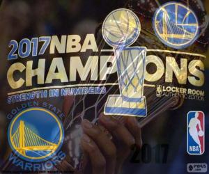 Warriors, 2017 NBA Meister puzzle