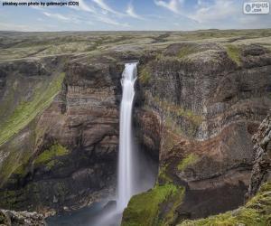 Wasserfall, Island puzzle