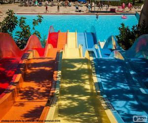 Wasserrutsche, Wasserpark puzzle