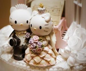 Wedding Dolls Hallo Kitty und Lieber Daniel puzzle