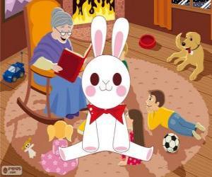Weiße Kaninchen aus einem Märchen puzzle