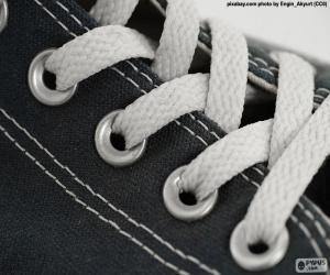 Weiße Schnürsenkel puzzle