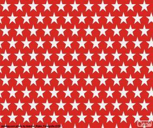 Weiße Sterne puzzle