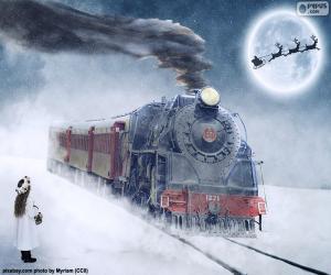 Weihnachten-Dampflokomotive puzzle