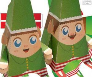 Weihnachten Elfen Papier puzzle