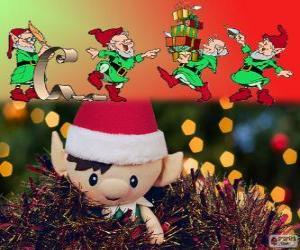 Weihnachten elfen puzzle