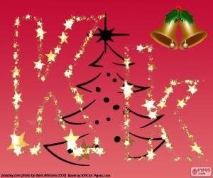 Weihnachten Hintergrund, Buchstabe K puzzle