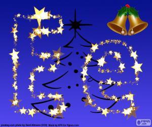 Weihnachten mit dem Buchstaben E puzzle