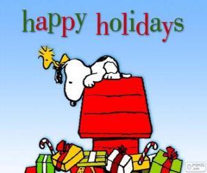 Weihnachten-Snoopy puzzle