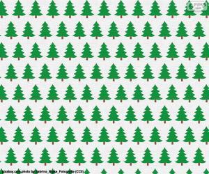 Weihnachts-Bäume-Papier puzzle
