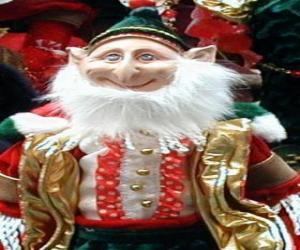 Weihnachts-elf mit spitzen ohren und spitzen hut puzzle