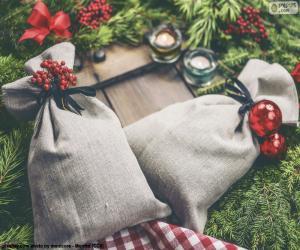 Weihnachts-Geschenk-Taschen puzzle
