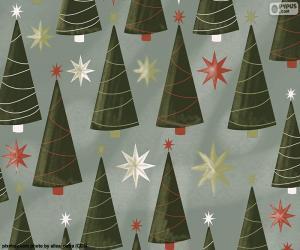 Weihnachtsbäume und Sterne puzzle